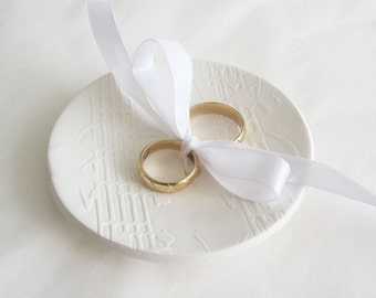 Wedding Ring Bowl, Ring Bearer Plate - Music in my heart, Rustic Ring Bowl, Wedding ring pillow, Romance Vintage Ring Bowl - Ready to Ship