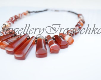 Agate Cleopatra Collar Necklace