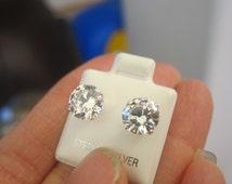 big fake diamond earrings - photo #2
