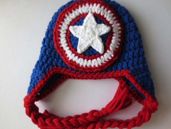 Crochet Captain America Hat Captain America by ...