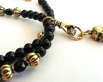 Shrunken Head Necklace (black)