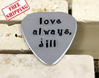 "Anniversary Gifts for Men / Custom Guitar Pick ""love always, (your name)"" / Personalized Guitar Pick / Men's Gifts / Fathers Day Gift"