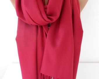 Cranberry Pashmina Scarf Fall Scarf Large Cowl Scarf Christmas Gifts Oversize Winter Scarf Chunky Scarf Women Fashion Accessories SCARFCLUB