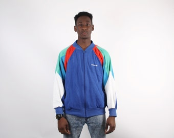 90s Adidas Trefoil Jacket  - 80s Adidas  - 90s Color Block Jacket - 1990s Adidas Jacket - 1617