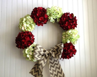 Fall wreath, hydrangea wreath, front door wreath, door wreath, wreath for fall, wreath, wreaths