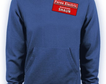 Shaun of the Dead Zombie Movie - Foree Electric Namebadge Hoodie