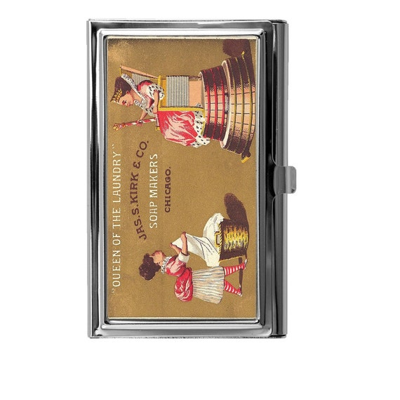 Business card holder card holder business card case vintage for Vintage business card case