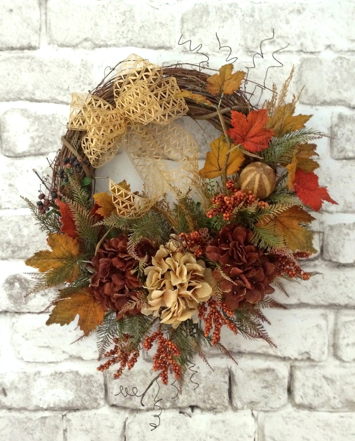 Autumn wreath fall wreath for door fall decor front door Fall autumn door wreaths