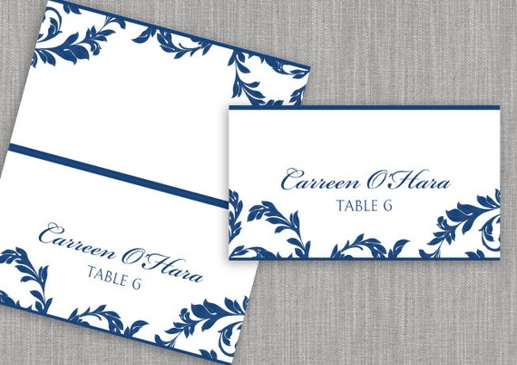diy place card template download instantly by karmakweddings