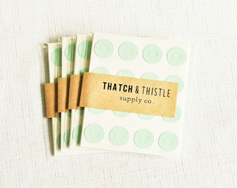 144 Mint Green Reinforcement Labels - 0.56 Inch Circle Stickers Gift Wrapping Party Invitation Embellish Pretty Packaging