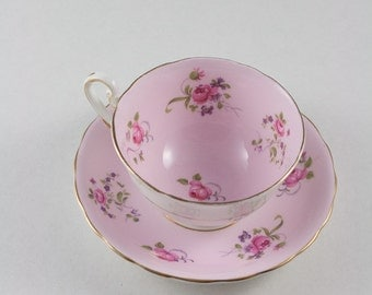 Pink English Rose Bone China Tea Cup