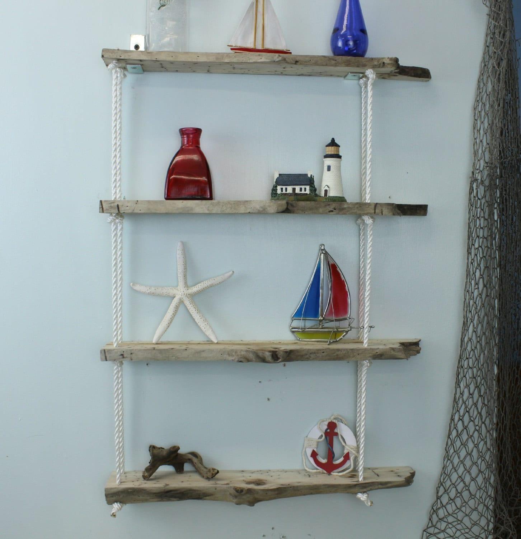 Driftwood hanging wall shelf driftwood shelves shelving for Driftwood wall shelves