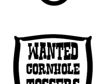 Cornhole Vinyl Decal Etsy