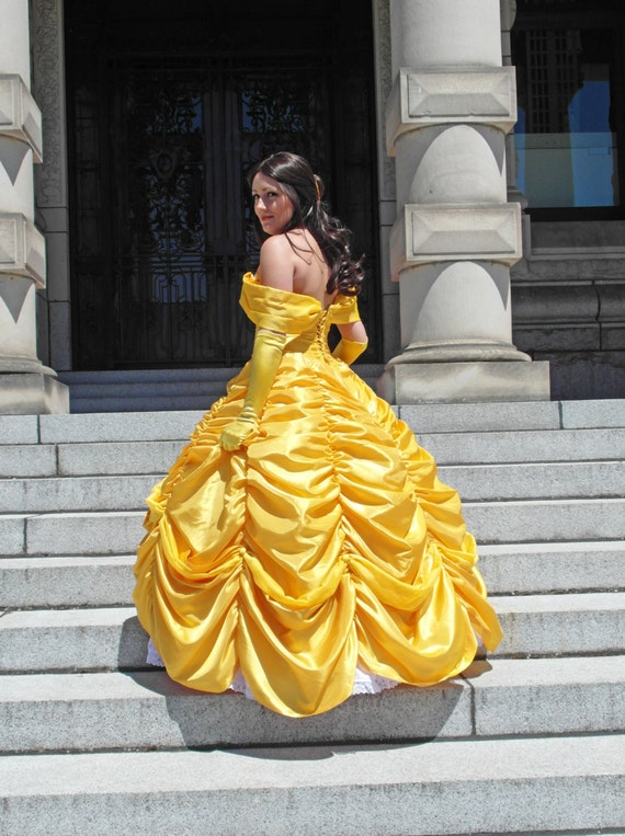 Items similar to Belle's Yellow Ball Gown Costume Cosplay ...