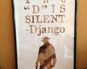 DJANGO UNCHAINED Silent A3 Print
