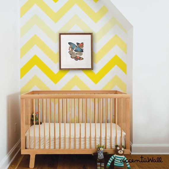 chevron jaune peel stick tissu papier peint repositionnable. Black Bedroom Furniture Sets. Home Design Ideas