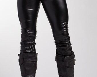 Men's Vinyl Flare Pants // Great Costume! // Faux Leather Pants // Pleather Pants // Sinister Costume Fetish