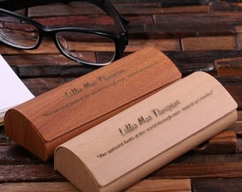 Personalized Eye Glass Case or Box (024582)
