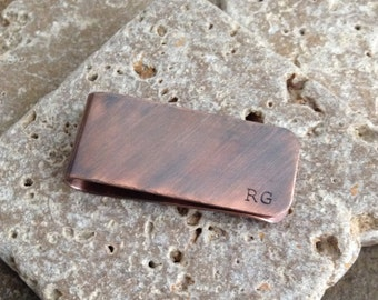Personalized Money Clip    Custom Hand Stamped Copper    Groomsmen's Gift    Father of the Bride or Groom    Father's Day