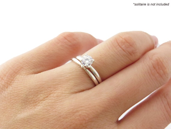 Items Similar To Sterling Silver Simple Classic 2mm Wedding Band Only Complements 4 Prong
