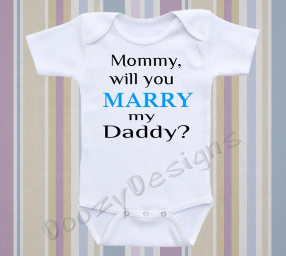 marriage engagement proposal baby onesie personalize