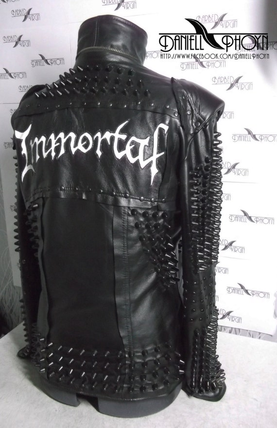 Leather jackets with spikes