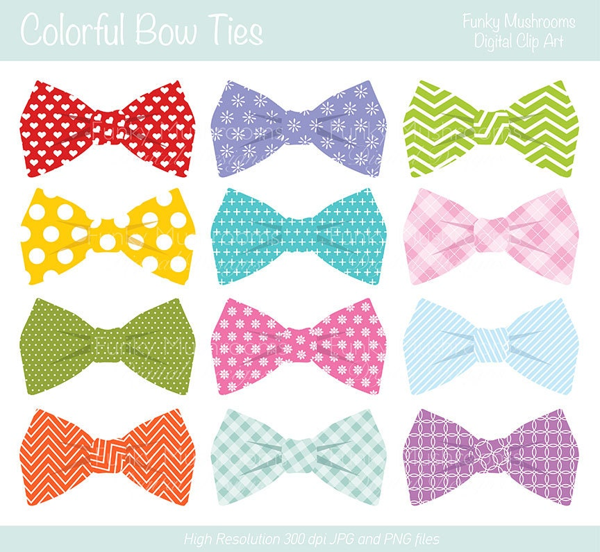 Bow Tie Pattern Clipart Digital clipart - colorful