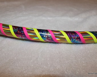 Custom Beginner Hula Hoop // Design Your Own // Push Button Collapsible Or Infinity Or Non collapsible / Travel - Choose Four Colors