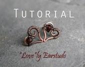 "Tutorial: ""LOVE""-ly ear studs"