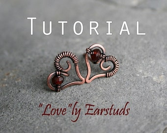 "Tutorial: ""LOVE""-ly ear studs"