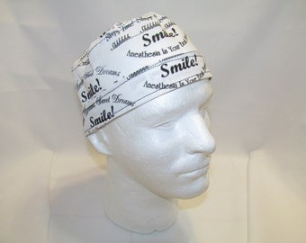 Anesthesia Tie Back Surgical Scrub Hat