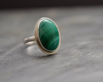 Malachite on sterling