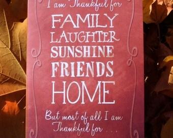 Thankful | Thanksgiving Greeting Card