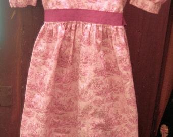 Childs Cotton Dress/ Empire Waist Toile Dress