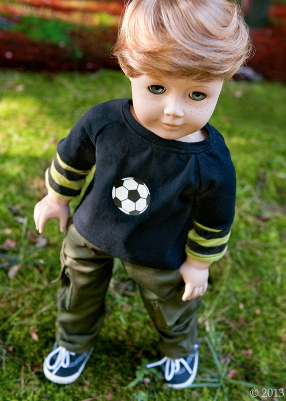American Girl Boy Doll Clothes Cargo Pants And Long Sleeve