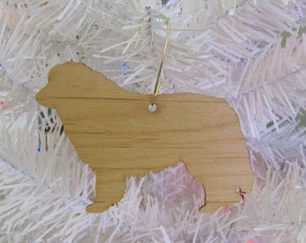 Great Pyrenees Ornament in Wood or Mirror Acrylic Customizable with Name