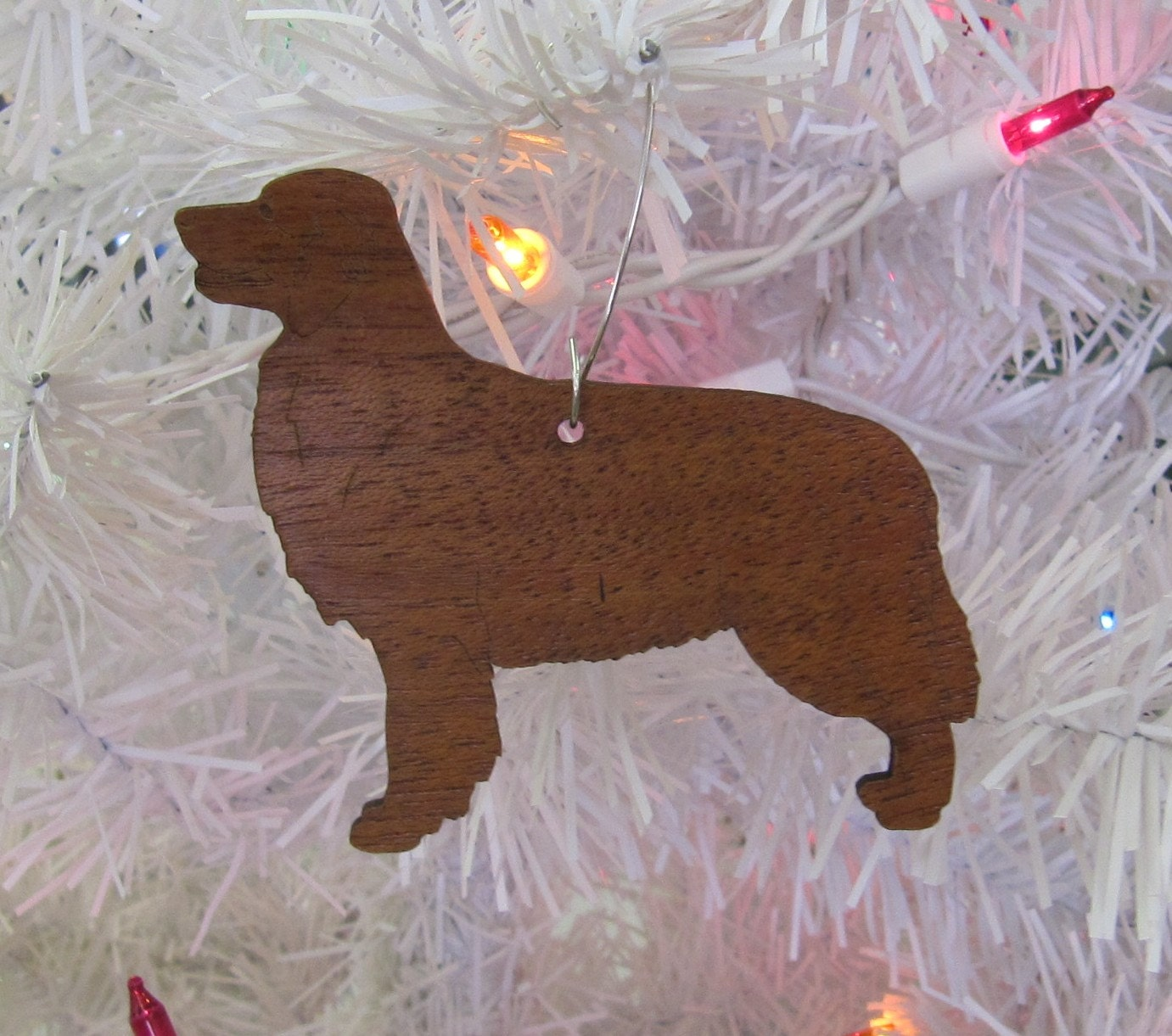 Golden Retriever Ornament in Wood or Mirror Acrylic Customizable with Name
