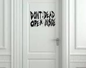 """Dead Inside from The Walking Dead Wall Decal- (20"""" X 10"""")"""