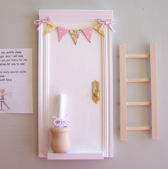 White tooth fairy door ladder fairy door tooth fairy for White fairy door