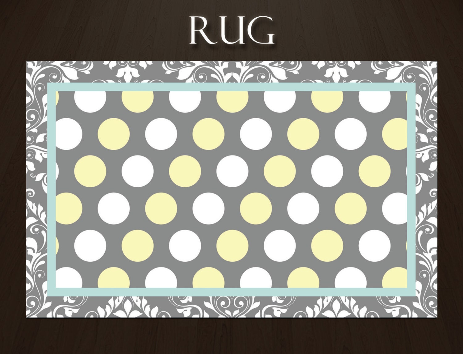 teal rugs area rugs polka dot rug by eloquentinnovations