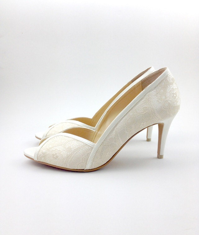 Ivory Lace Wedding Shoes Ivory Lace Bridal Shoes White