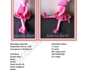 crochet pattern Angelina ballerina mouse