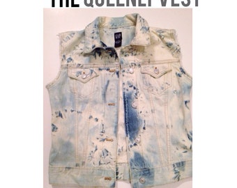 The Queenly Vest - Womens denim vest