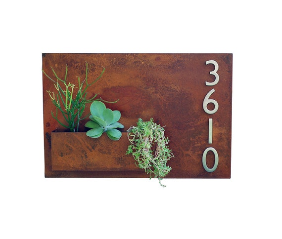 20 X 30 Mid Century Metal Address Plaque With By Urbanmettle