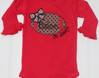 Monogrammed Georgia Shirt, UGA Shirt, UGA Baby Outfit Monogrammed, Monogrammed Georgia Girl Shirt