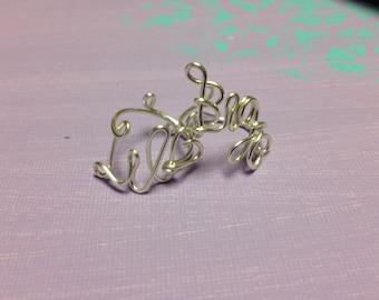 Adjustable Silver Big and Little Sorority Rings, Adjustable Sorority Gift Rings, Gift for Little, Gift for Big, Silver Big Little Ring