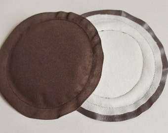 Nursing Pads, Breast Pads, Reusable, Breastfeeding Pads Heavy Absorbency, Brown - Many Prints Available