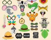 52 Hilarious Safari Baby Shower Themed Photo Booth Props INSTANT DOWNLOAD Printable DIY
