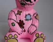 Creepy But Cute Pink Teddy Bear Model Figure