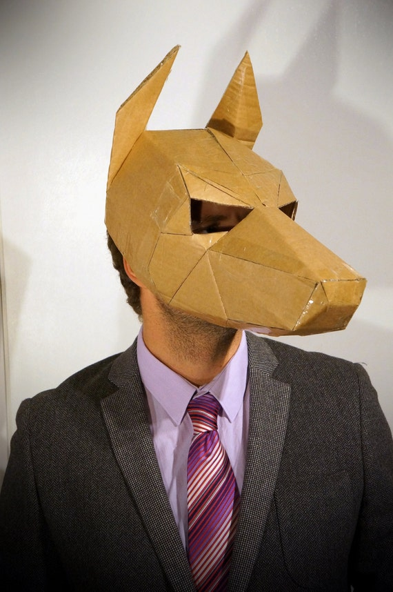 Creating A Dog Mask: Dog Mask Make Your Own Animal Mask From Recycled By